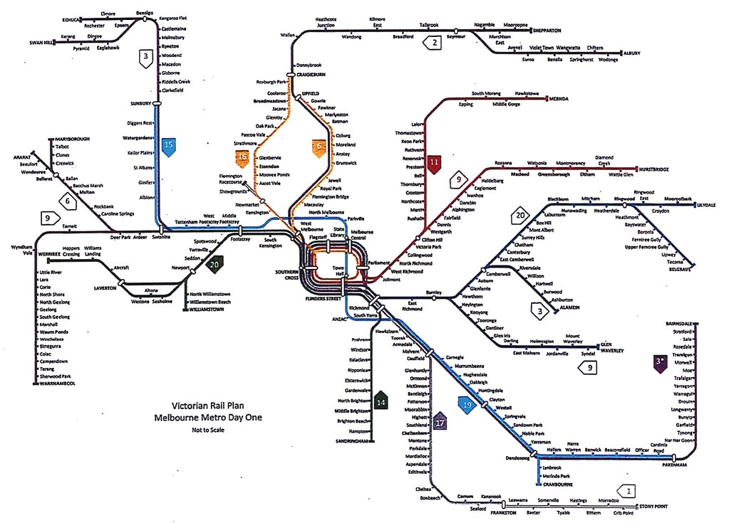 Victorian Rail Plan - leaked version October 2018 - Metro 1 tunnel