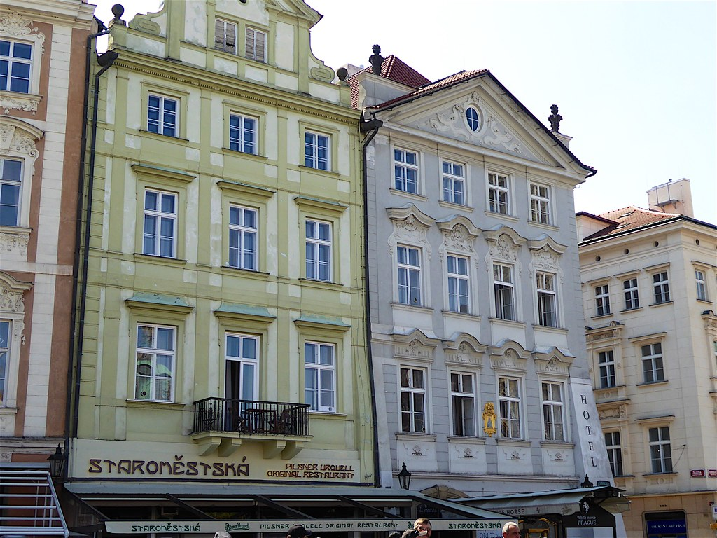 Old Town Square: At Lazarus's and At the Golden Unicorn buildings