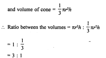 Class 9 Maths Chapter 20 Surface Areas and Volume of A Right Circular Cone RD Sharma Solutions