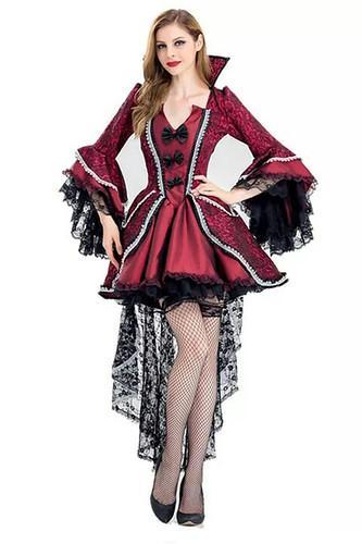 Женский карнавальный костюм Красное с хвостом