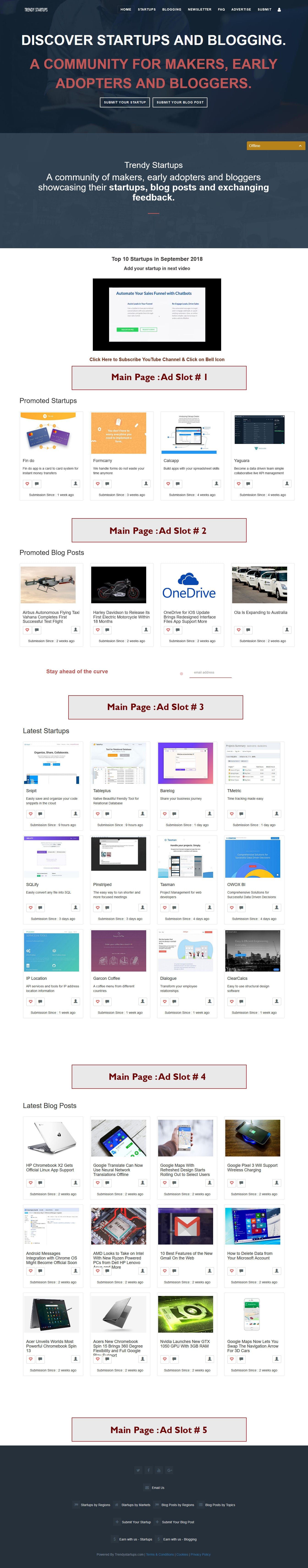 Main page Ads