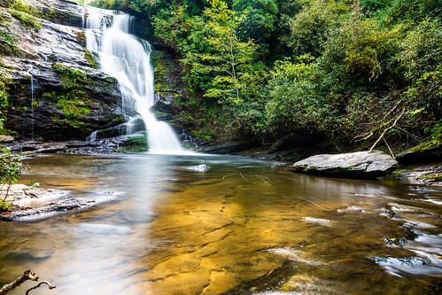 waterfall landscape forest north carolina nikon
