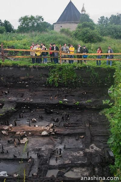 Раскопки дома викингов. Фото 2008 года, Старая Ладога