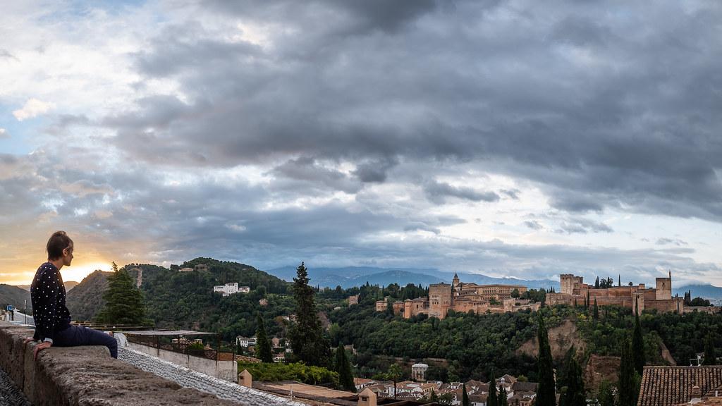 Sunrise over the Alhambra, Granada picture