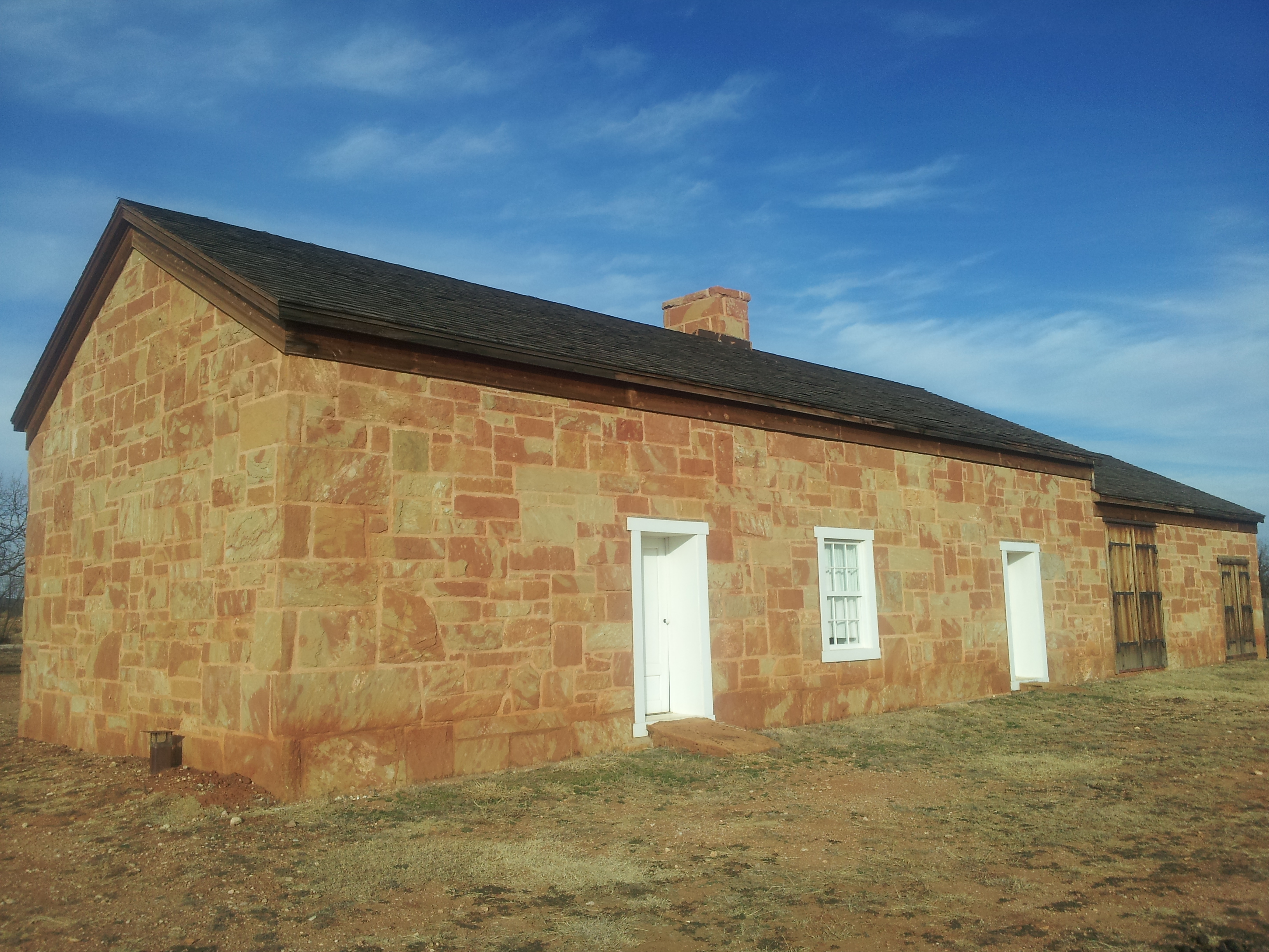 Reconstructed Overland Mail stage station at Fort Chadbourne, Texas. Photo taken on January 4, 2010