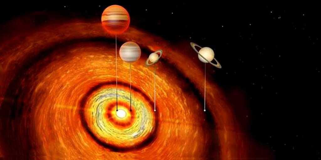 4 énormes planètes repérées autour d'une étoile