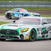 Paul Andrew Rigby posted a photo:	Two teams running Mercedes-AMG GT4s battle it out at Rockingham during the British GT Championship. (Fox Motorsport followed closely by Team Parker Racing Ltd)