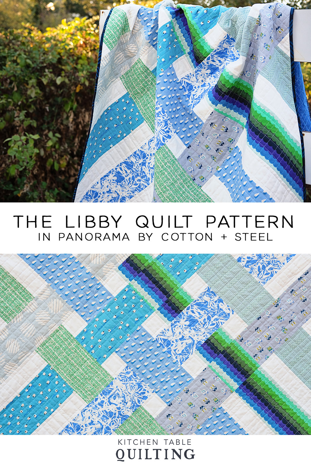 The Libby Quilt in Panorama - Kitchen Table Quilting