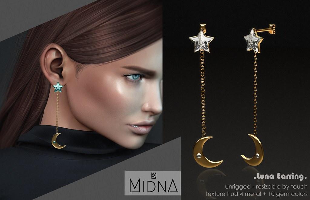 Midna – Luna Earring