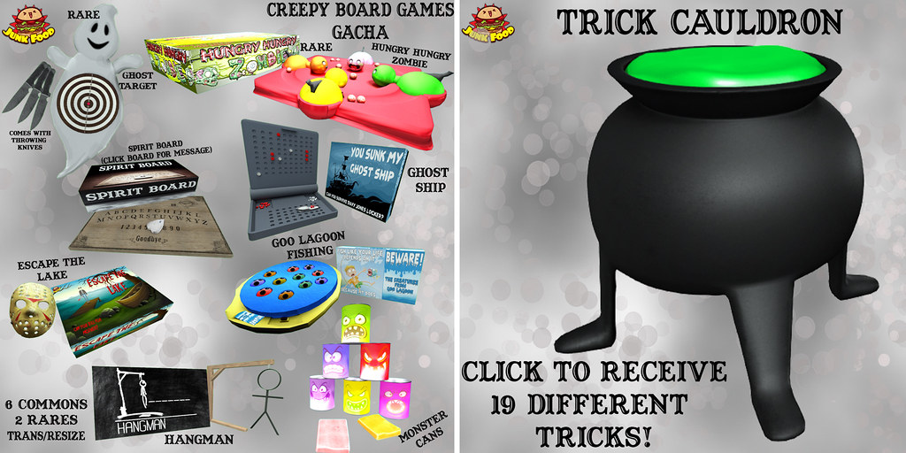 Junk Food - Creepy Board Games Gacha - TeleportHub.com Live!