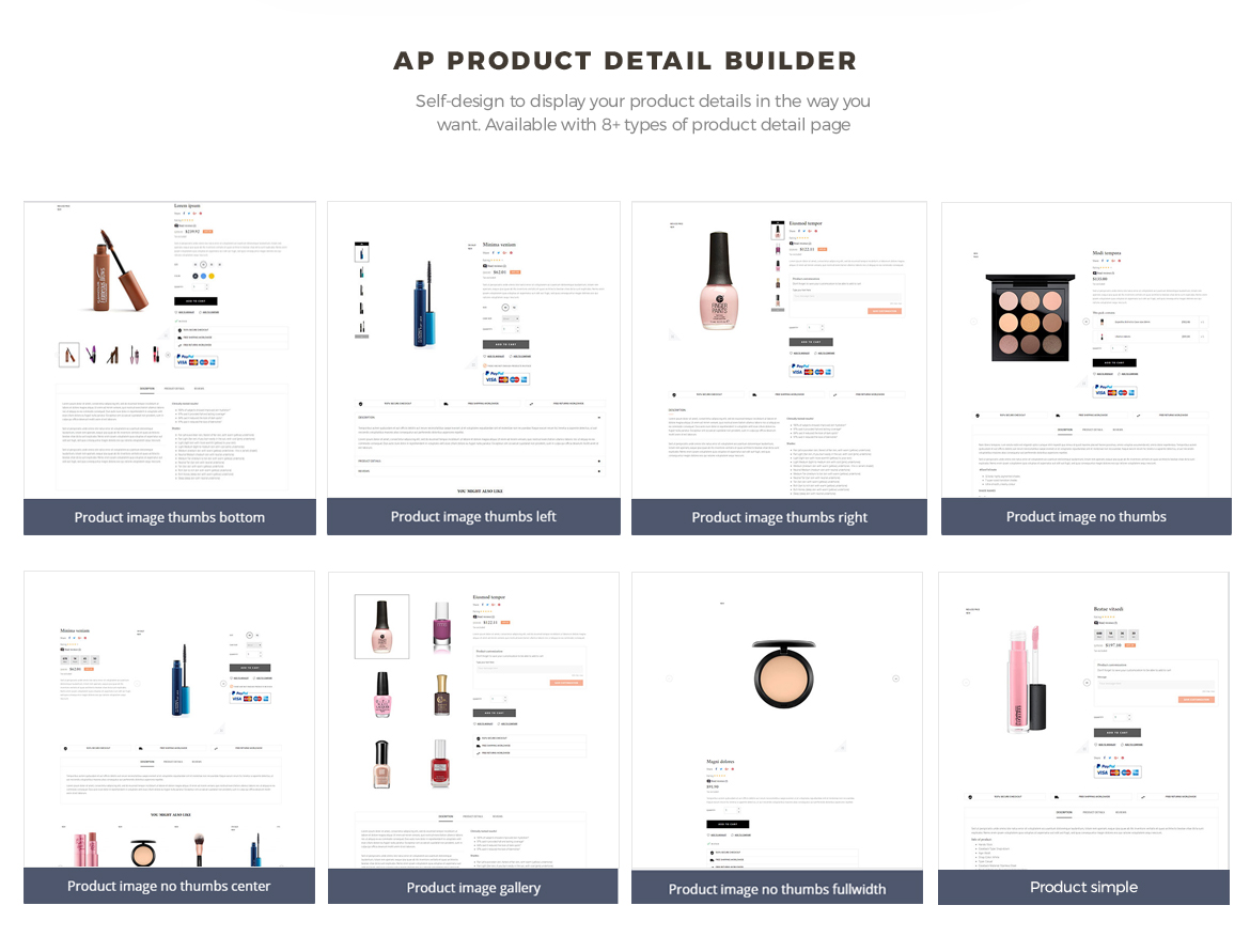 product list builder - pagebuilder-Bos Mac Prestashop 1.7 theme - Cosmetic and Beauty Store - free install support
