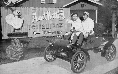 Aunt Hattie's Restaurant (Aunt Hattie Riding in Car)