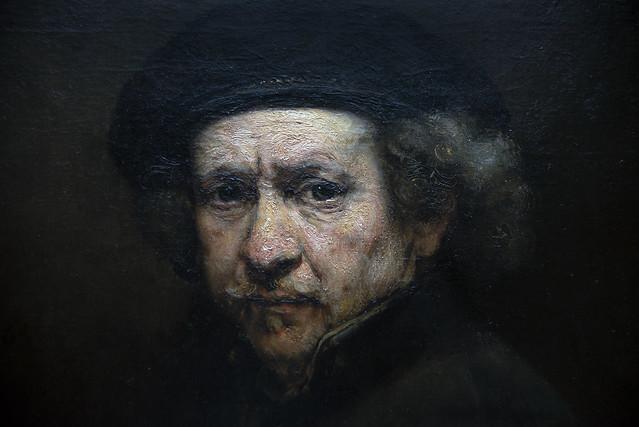 Self Portrait, Rembrandt, detail
