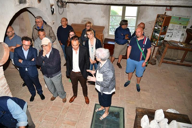 L'assessore regionale al turismo Andrea Corsini ha visitato il Mulino Scodellino di Castel Bolognese