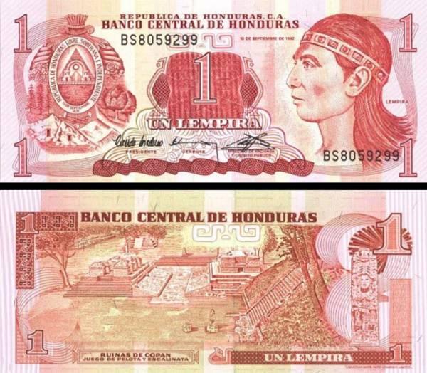 1 Lempira Honduras 1992, P71