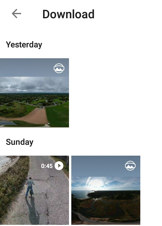 360 VR photos with correct metadata are shown in Android's photo Gallery with a small VR icon in the upper right corner of the image thumbnail