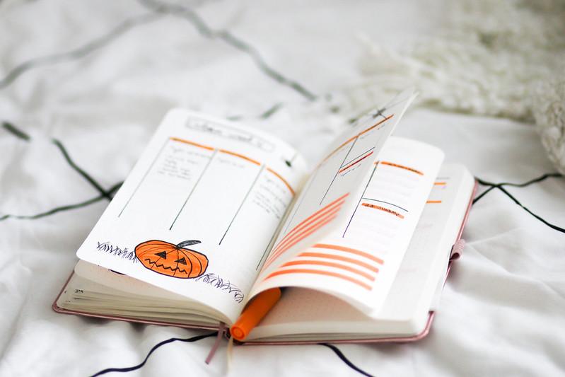 lokakuu bullet journal blogi 3