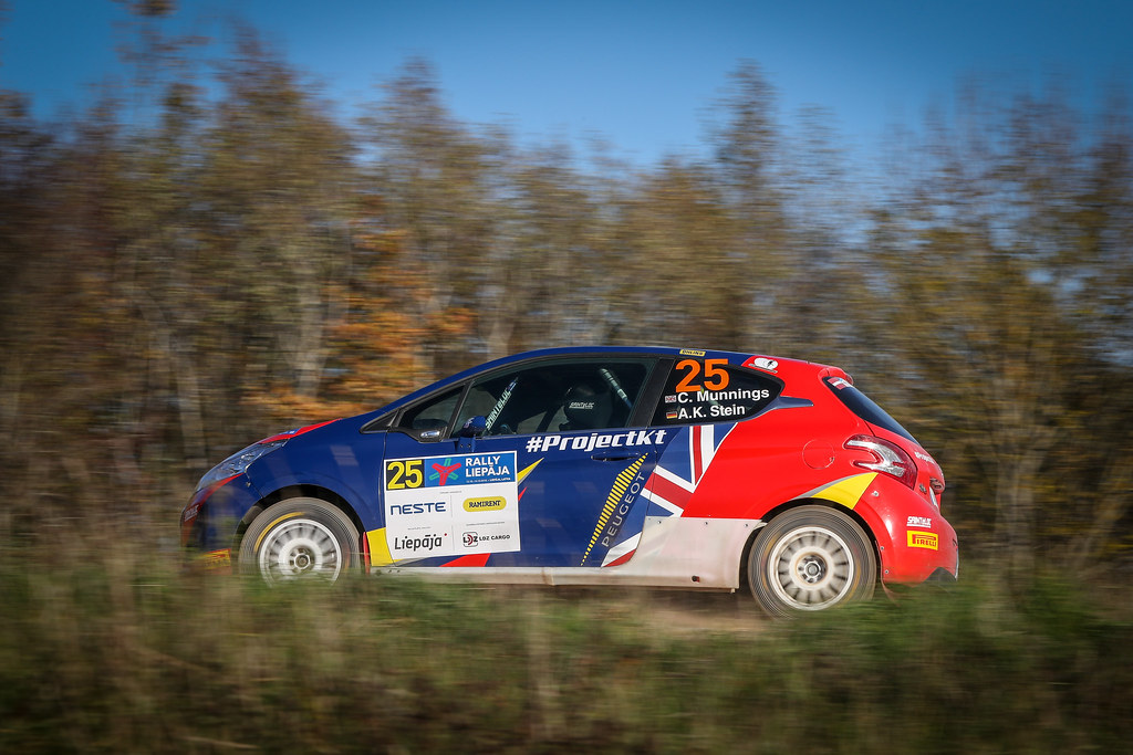 25 MUNNINGS Catie, (GBR), Anne Katharina STEIN, (DEU), Sainteloc Junior Team, Peugeot 208 R2, Action during the 2018 European Rally Championship ERC Liepaja rally,  from october 12 to 14, at Liepaja, Lettonie - Photo Alexandre Guillaumot / DPPI