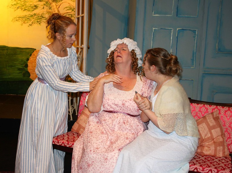 Pride Mrs B distressed with Lizzie and Charlotte