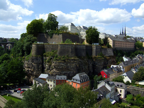 old walls in Luxembourg Grund