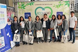 """Más de 20 colegios de Lima participan en la cuarta edición de la campaña """"Ecolegio, tu acción tiene eco""""..."""
