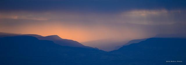 Backlit Rain, Uncompahgre Plateau
