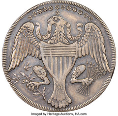 1792 Washington Silver Pattern, Lettered Edge reverse