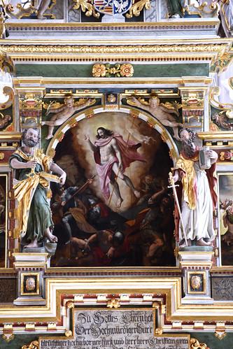 Celle, Stadtkirche St. Marien, Niedersachsen, altar, resurrexion painting