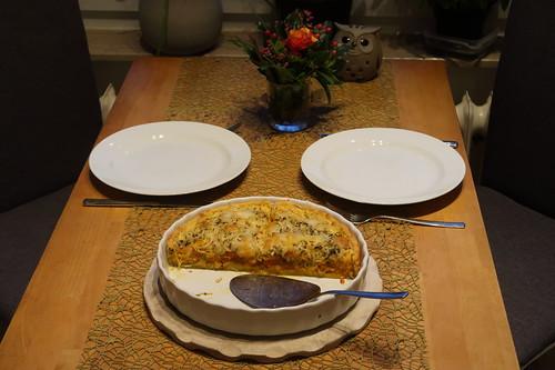 Kürbis-Zwiebel-Käse-Crostata