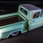 Heath's bagged 1962 Chevy C10 pickup