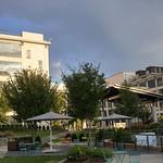 After the evening storm in the Winston-Salem Innovation Quarter: Bailey Park, WFU building