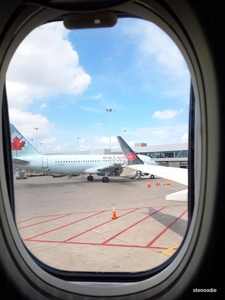 Window of a plane