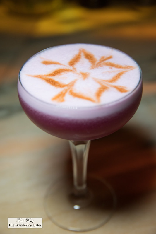 Hollywood Antoinette - Pisco, Catcus pear, strawberry, lime, egg whites, Angotsura bitters