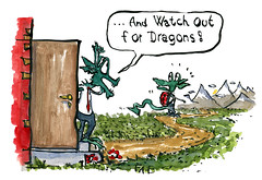 illustration-watch-out-for-dragons-dad-hiking-art-by-frits-ahlefeldt