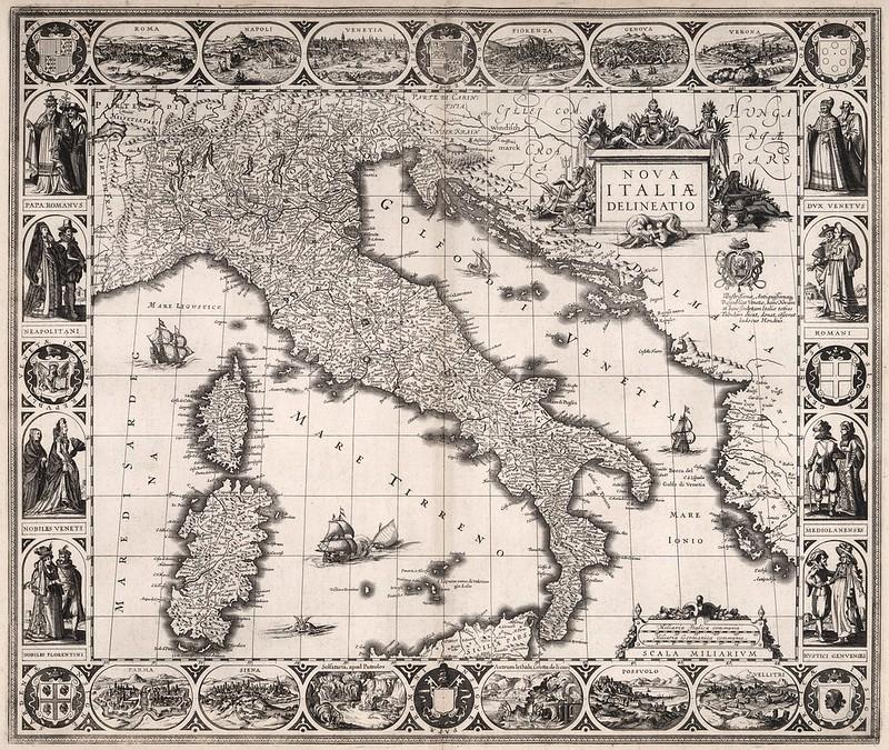 Willem Janszoon Blaeu - Nova Italiae Delineatio (1630)