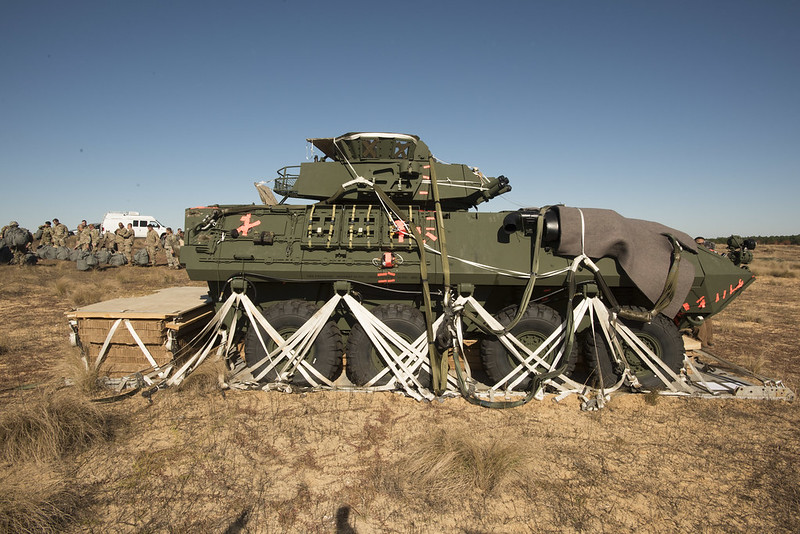 82nd Airborne Division's 3rd Brigade Combat Team airdrop tests Light Armor Vehicle