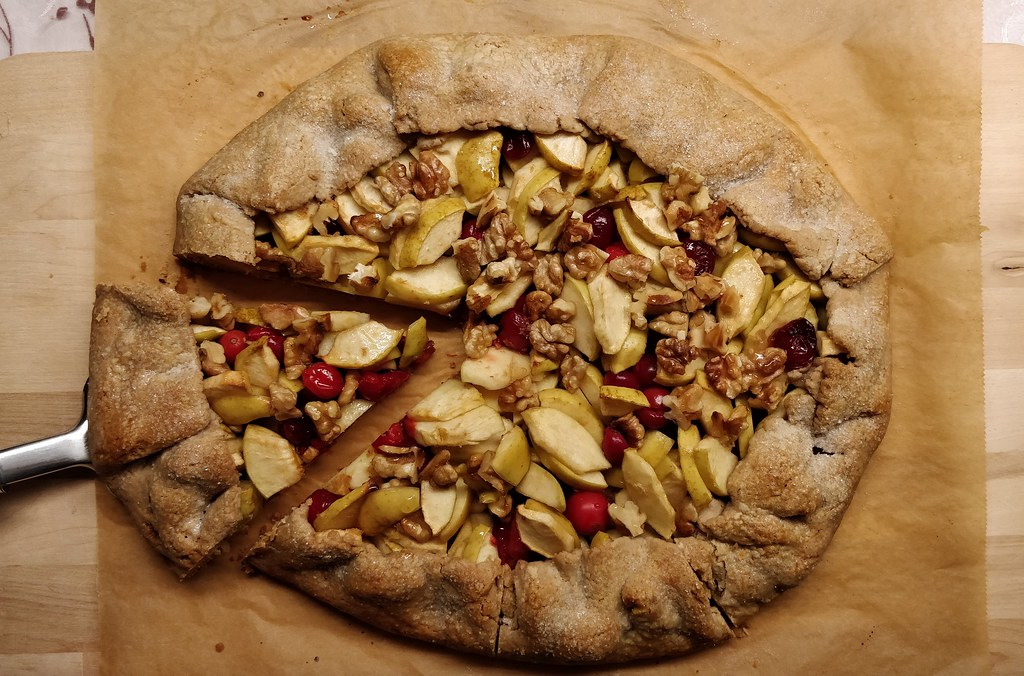 Apfel-Cranberry-Galette