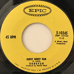 DONOVAN:HURDY GURDY MAN(LABEL SIDE-A)