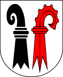 A cantonal coat of arms combining the coats of arms of the two half cantons of Basel, was in use from 1833 to 1999 when the