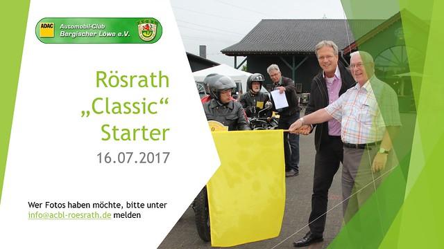 "2017 Rösrath ""Classic"" Starter"