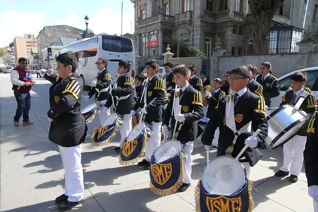 Presentación Banda de Guerra LSMF en Pta Arenas