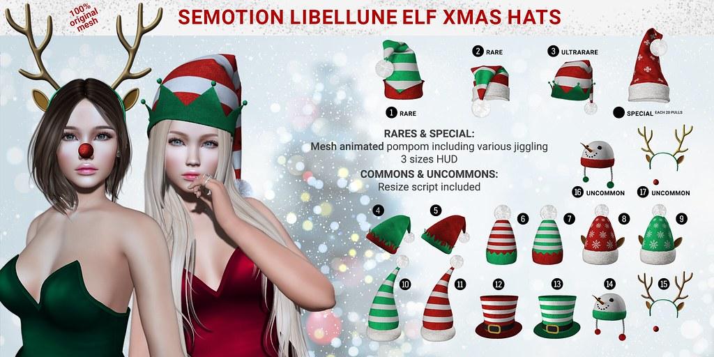 SEmotion Libellune Elf Xmas Hats Gacha Set @ Equal10 - TeleportHub.com Live!