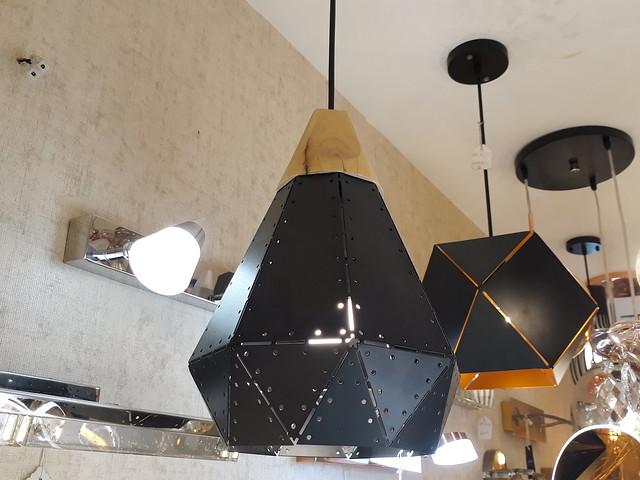 Geometric metal lamps