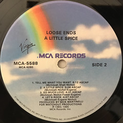 LOOSE ENDS:A LITTLE SPICE(LABEL SIDE-B)