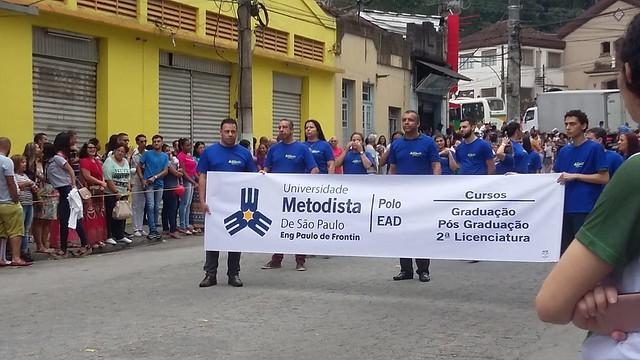 Polo EAD de Engenheiro Paulo de Frontin (RJ), desfile cívico do aniversário de 55 anos da cidade