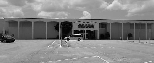 sears melbourne brevardcounty florida retail store closing blackandwhite 1960s 60s departmentstore
