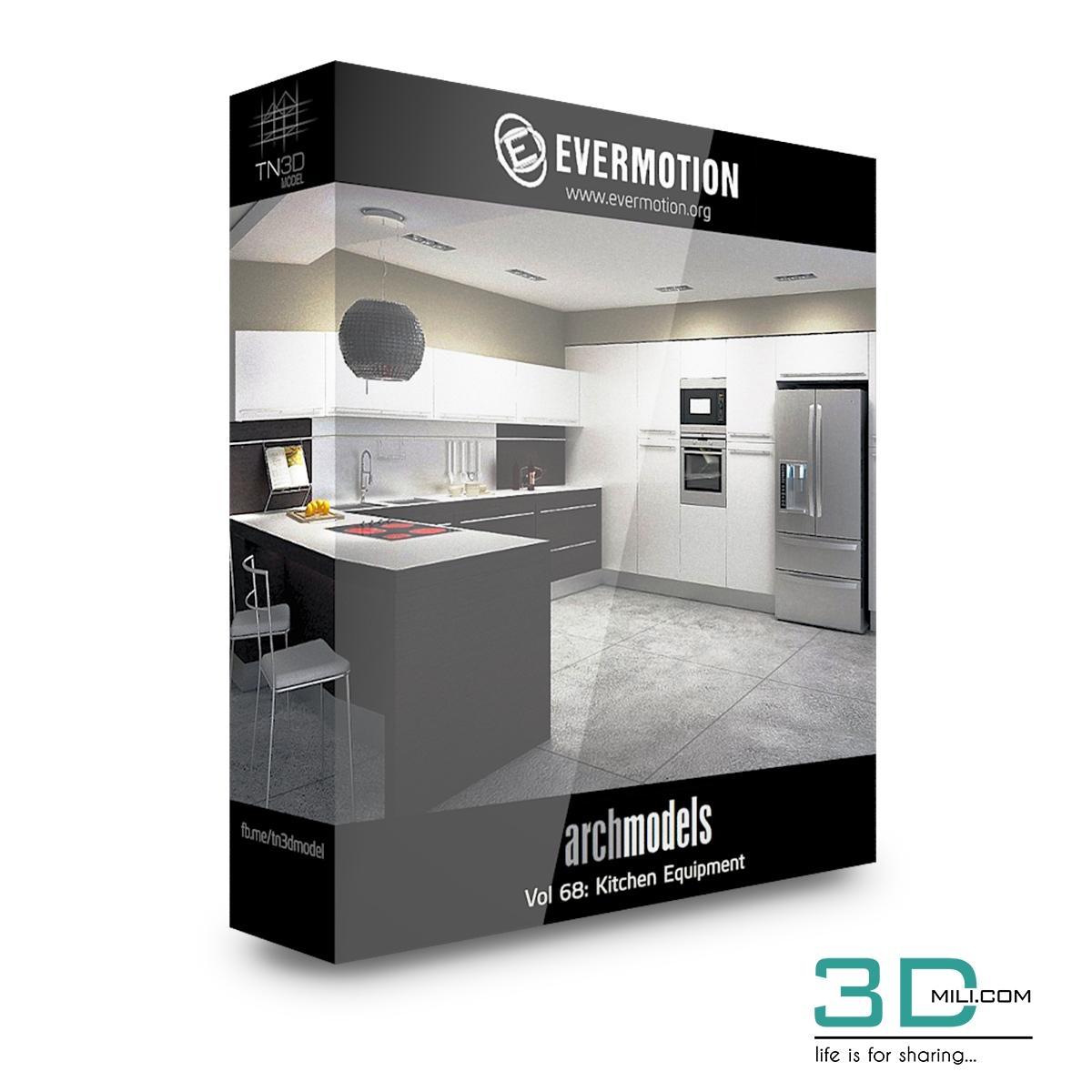 Evermotion Archmodels Vol 68: Kitchen Equipment - 3D Mili - Download
