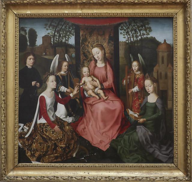 Madonna col Bambino in trono tra le sante Caterina d'Alessandria e Barbara, copy of  Memling
