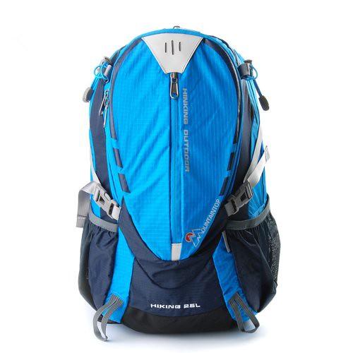 Mountaintop® Outdoor Hiking Climbing Clycling Canvas Backpack Daypacks Waterproof Mountaineering Bag M509 Shoulder Bag 25L Unisex Trekking Travel Bag Rucksack (Blue) Review