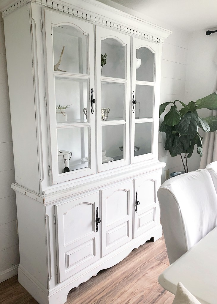 China Cabinet White Farmhouse